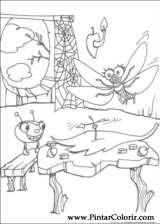 Pintar e Colorir Miss Spider - Desenho 006