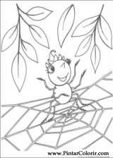 Pintar e Colorir Miss Spider - Desenho 008