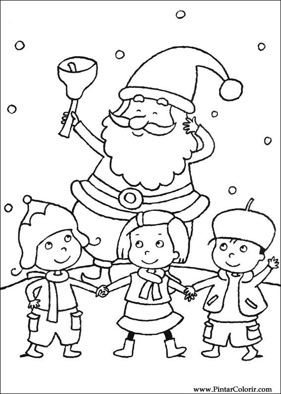 Paint Colour Christmas Drawing 086