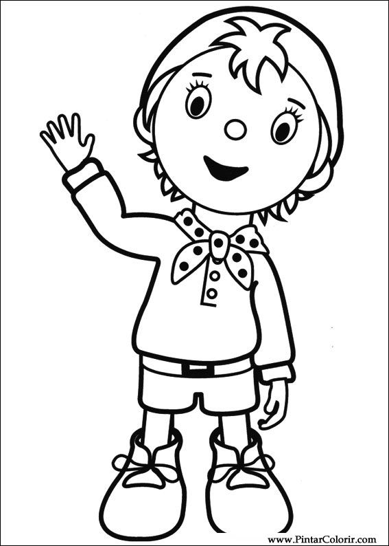 Drawings To Paint Colour Noddy Print Design 050