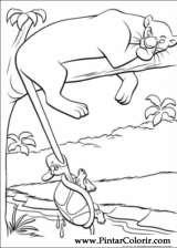 Pintar e Colorir O Livro Da Selva - Desenho 002