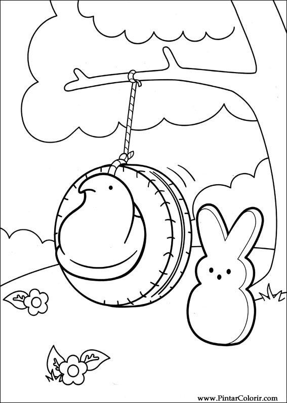 Drawings To Paint & Colour Peeps - Print Design 001