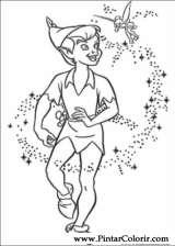 Pintar e Colorir Peter Pan - Desenho 002