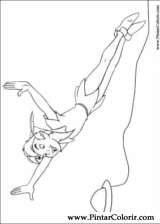 Pintar e Colorir Peter Pan - Desenho 010