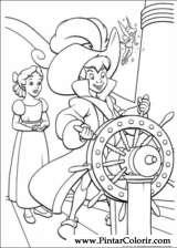 Pintar e Colorir Peter Pan - Desenho 030