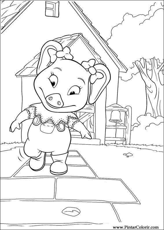 Dibujos para pintar y Color Piggley Winks - Diseño de impresión 040