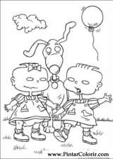 Pintar e Colorir Rugrats - Desenho 006