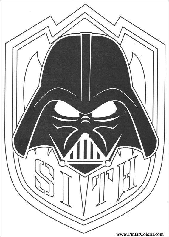 Dibujos para pintar y Color Star Wars - Diseño de impresión 146