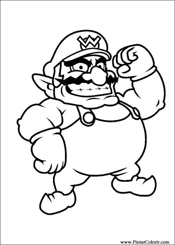 Dessins à peindre et couleur Super Mario Bros - Imprimer ...