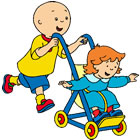 Colorir Caillou E Rose